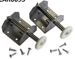 Pair of Door Spindle  Bracket Assemblies for Double Doors