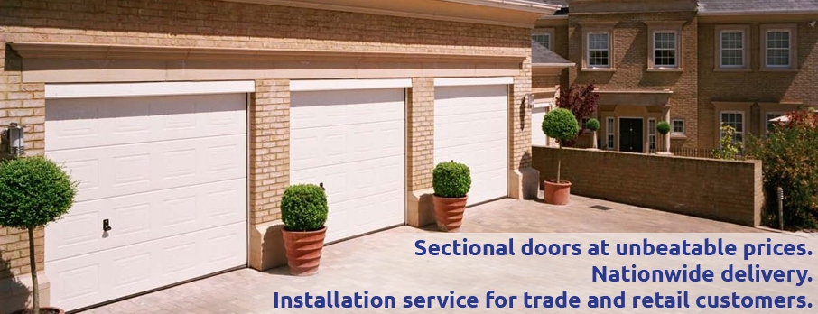 Hormann Georgian single skin sectional garage door