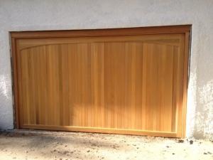 Woodrite Chartridge cedar wood up and over garage door