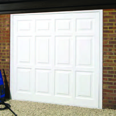 Wessex Georgian up and over door in High Gloss White